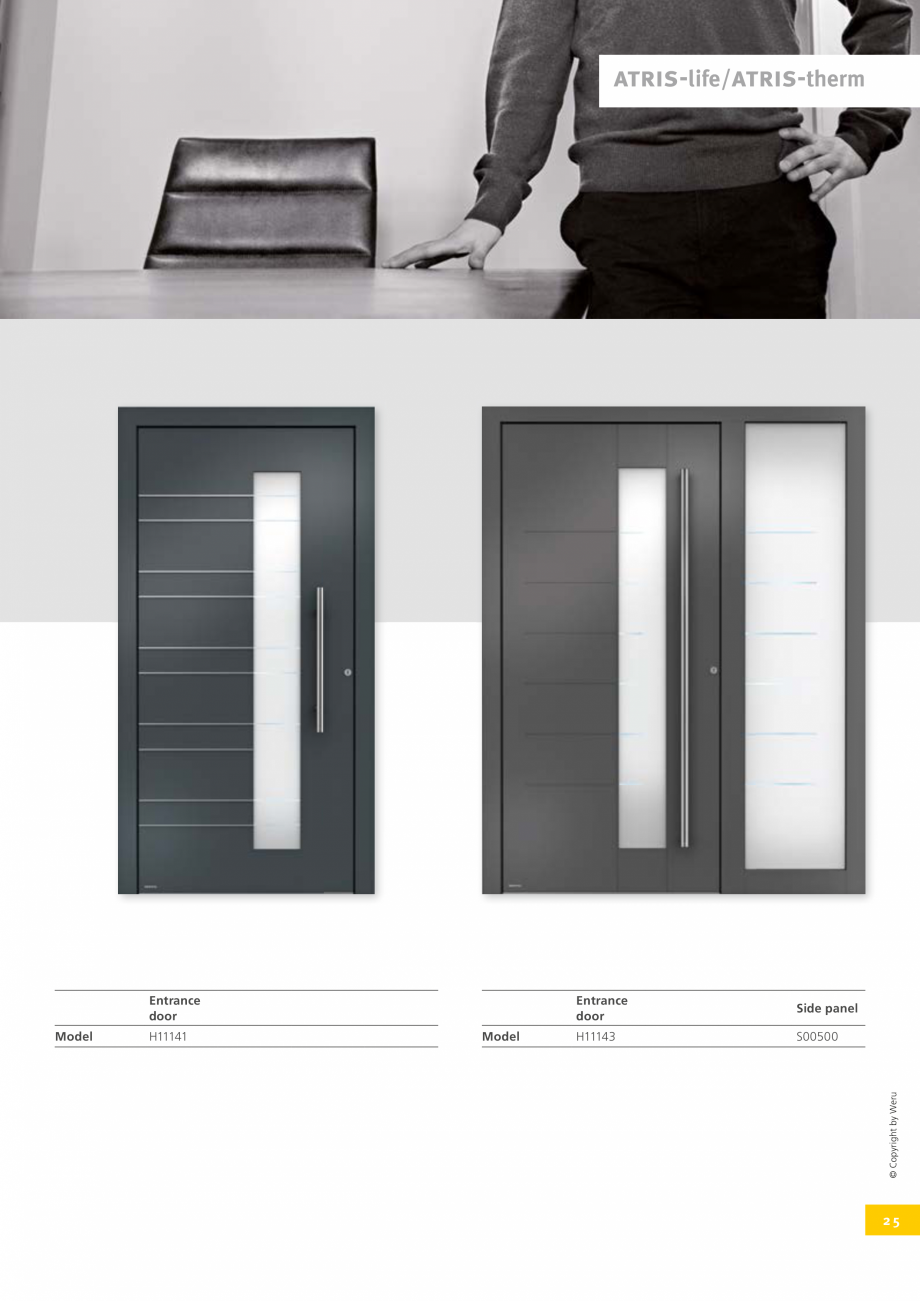 Pagina 26 - Catalog general - Usi de exterior din aluminiu WERU Catalog, brosura Engleza opyright by...