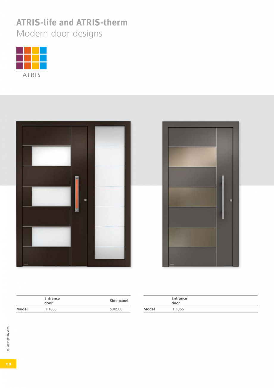 Pagina 29 - Catalog general - Usi de exterior din aluminiu WERU Catalog, brosura Engleza traight or ...