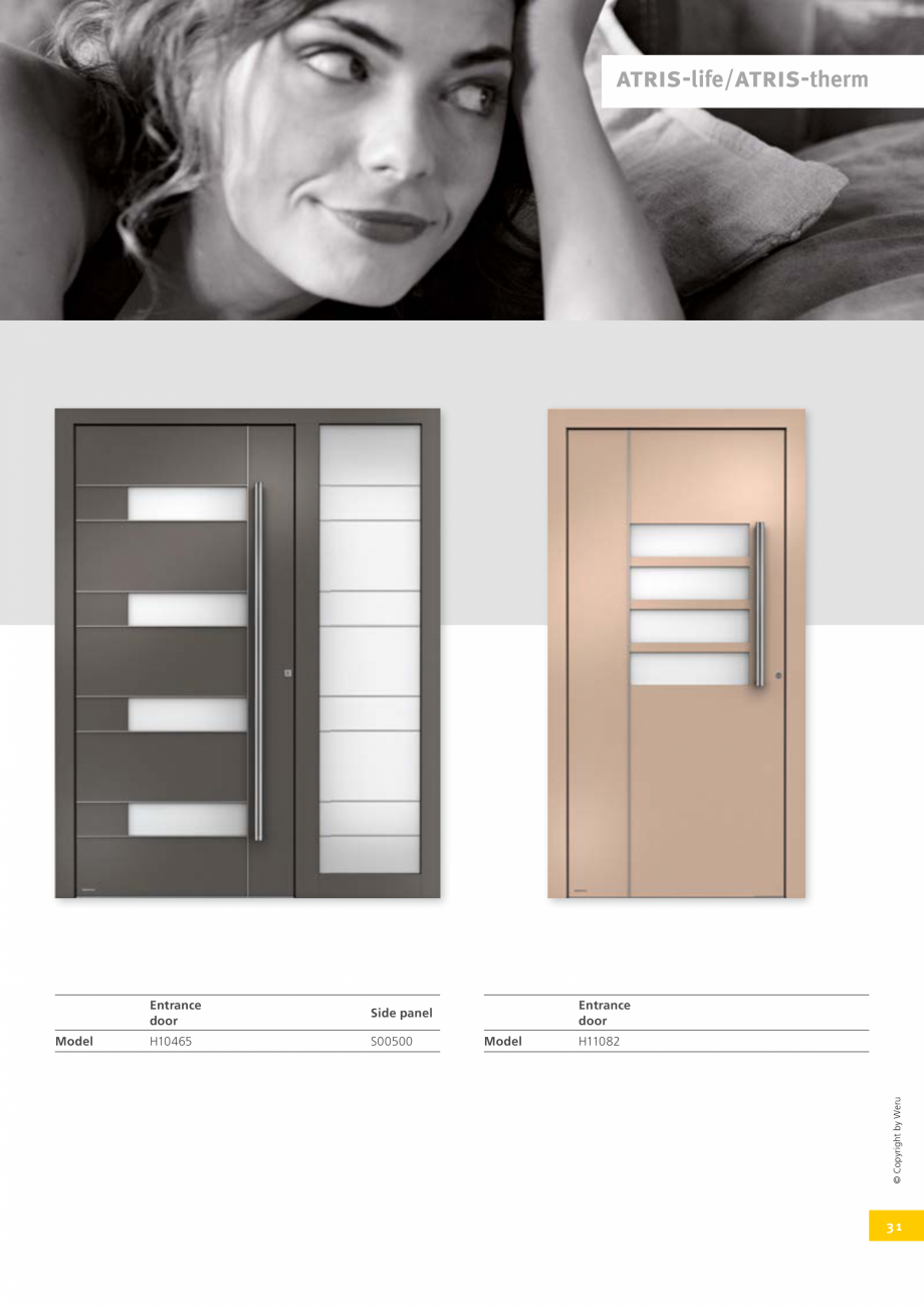 Pagina 32 - Catalog general - Usi de exterior din aluminiu WERU Catalog, brosura Engleza 1 – o582 ...