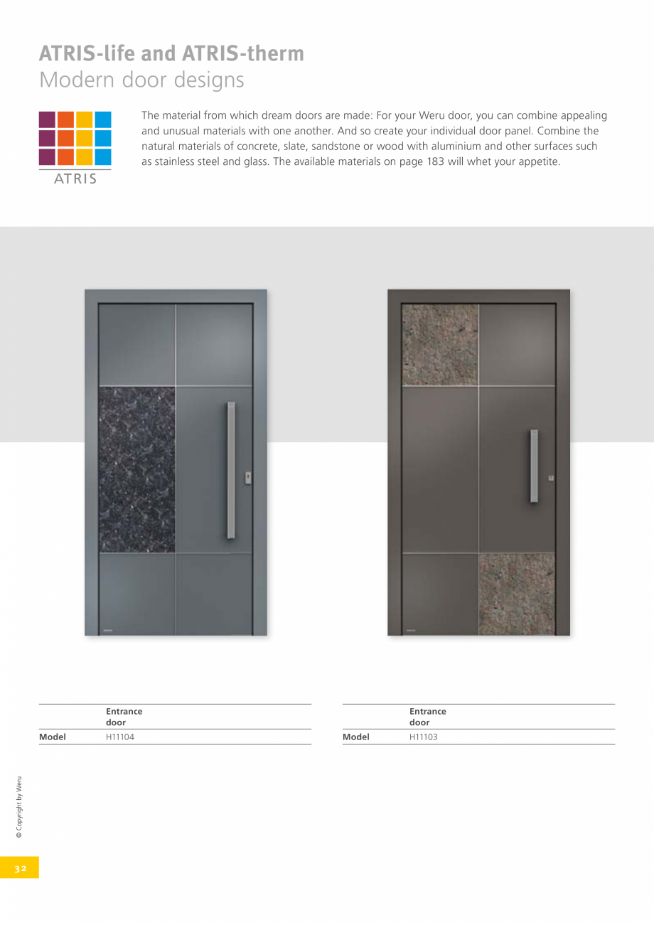 Pagina 33 - Catalog general - Usi de exterior din aluminiu WERU Catalog, brosura Engleza itional...