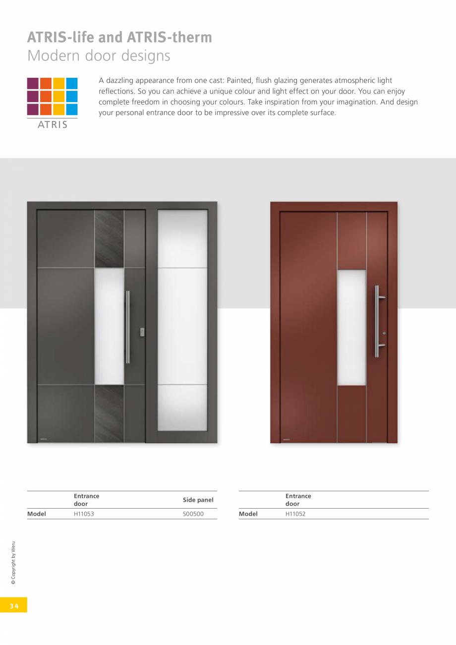 Pagina 35 - Catalog general - Usi de exterior din aluminiu WERU Catalog, brosura Engleza ge 106 ...