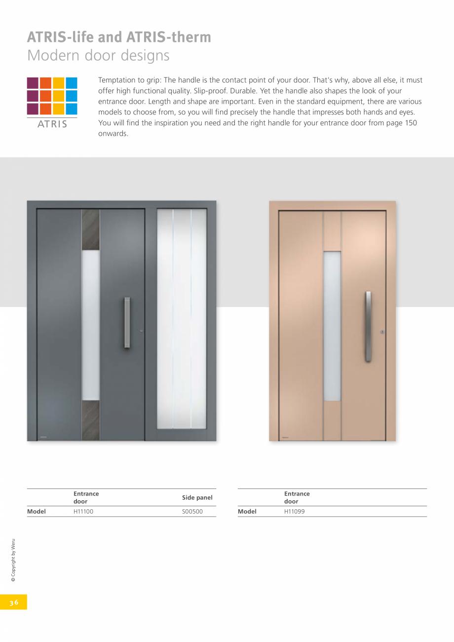 Pagina 37 - Catalog general - Usi de exterior din aluminiu WERU Catalog, brosura Engleza  your side:...