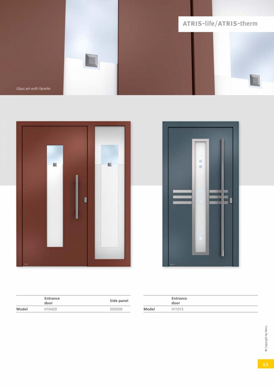 Pagina 43 - Catalog general - Usi de exterior din aluminiu WERU Catalog, brosura Engleza in entrance...