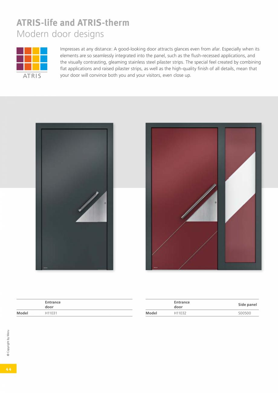 Pagina 44 - Catalog general - Usi de exterior din aluminiu WERU Catalog, brosura Engleza  and so...