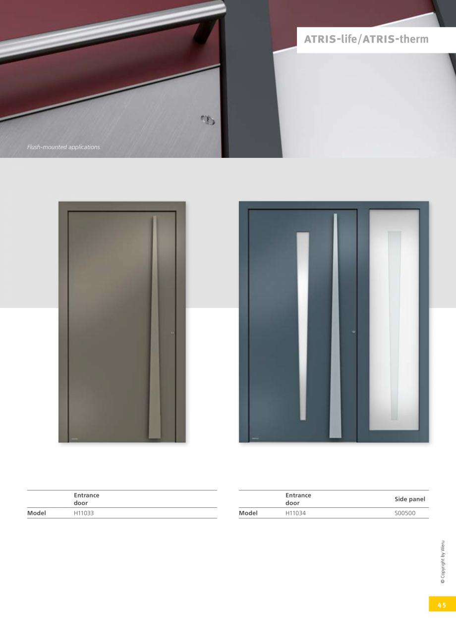 Pagina 45 - Catalog general - Usi de exterior din aluminiu WERU Catalog, brosura Engleza fers...