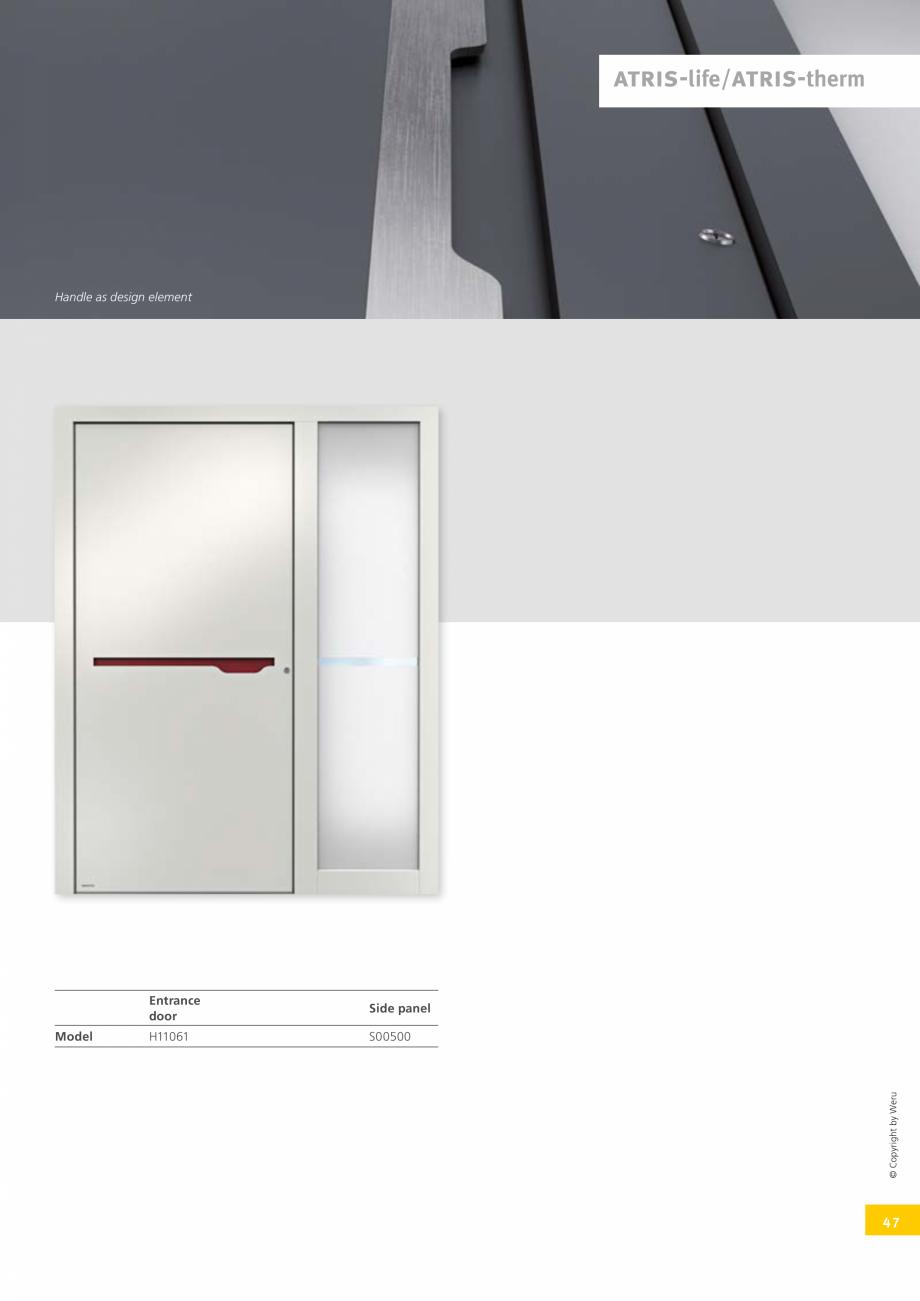 Pagina 47 - Catalog general - Usi de exterior din aluminiu WERU Catalog, brosura Engleza el  H12006 ...