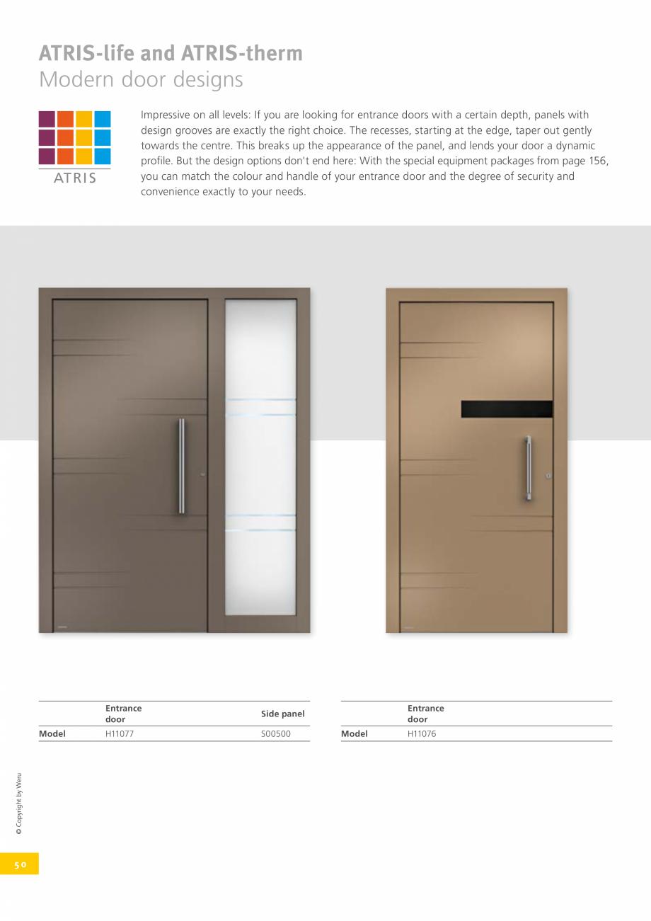 Pagina 50 - Catalog general - Usi de exterior din aluminiu WERU Catalog, brosura Engleza (m2K) ...