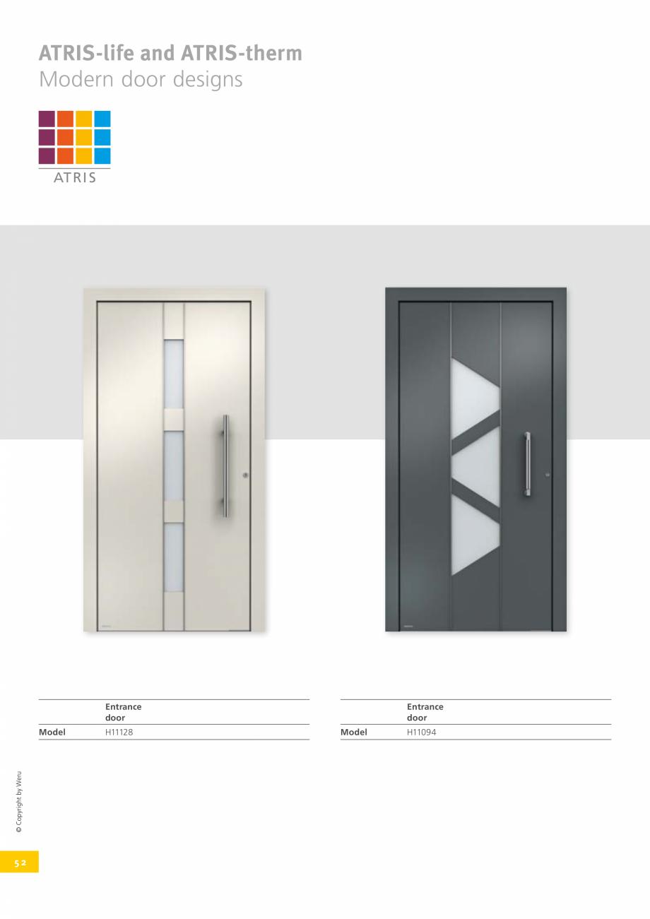 Pagina 52 - Catalog general - Usi de exterior din aluminiu WERU Catalog, brosura Engleza ngth 400 mm...