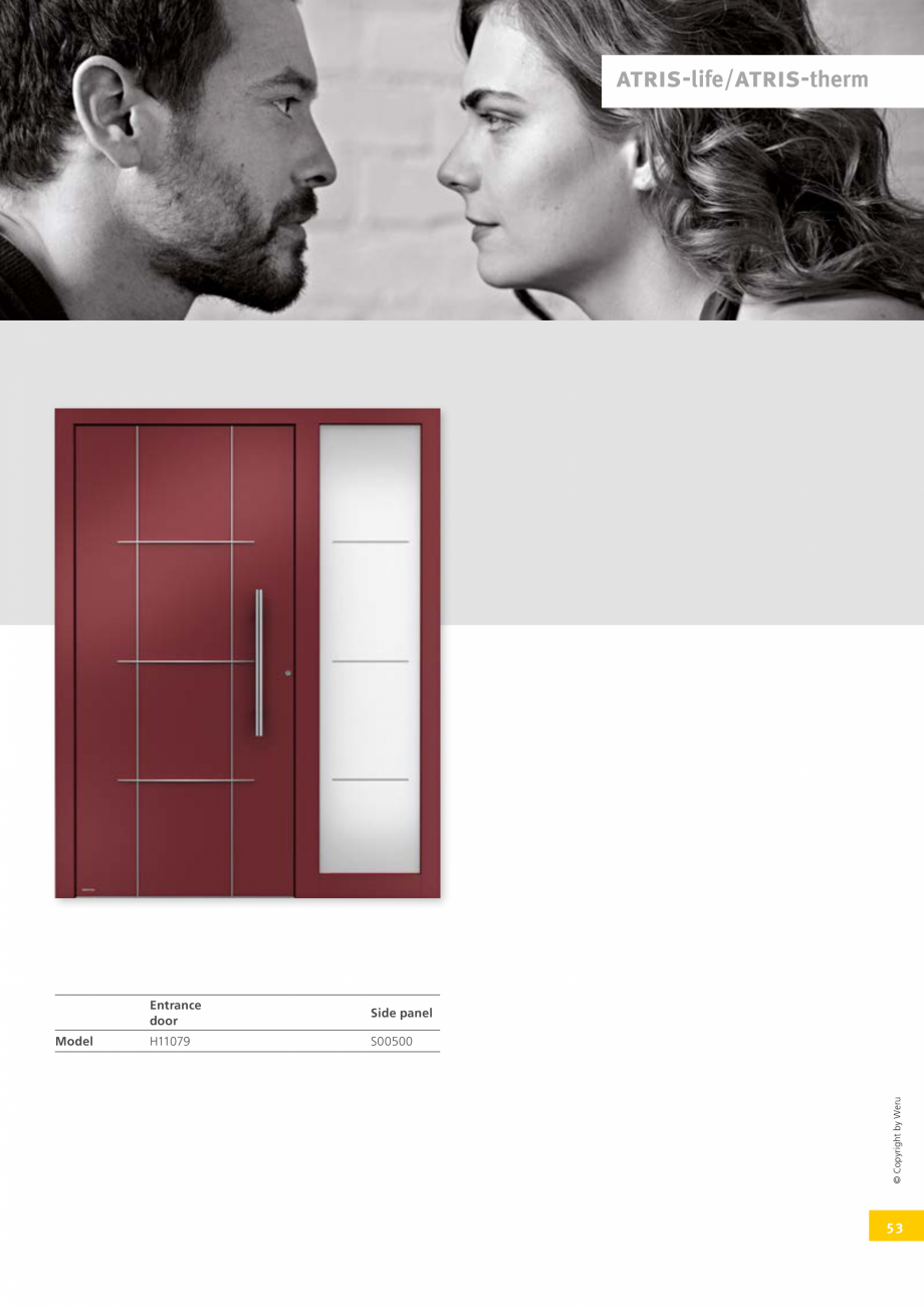 Pagina 53 - Catalog general - Usi de exterior din aluminiu WERU Catalog, brosura Engleza  R003oz-M  ...