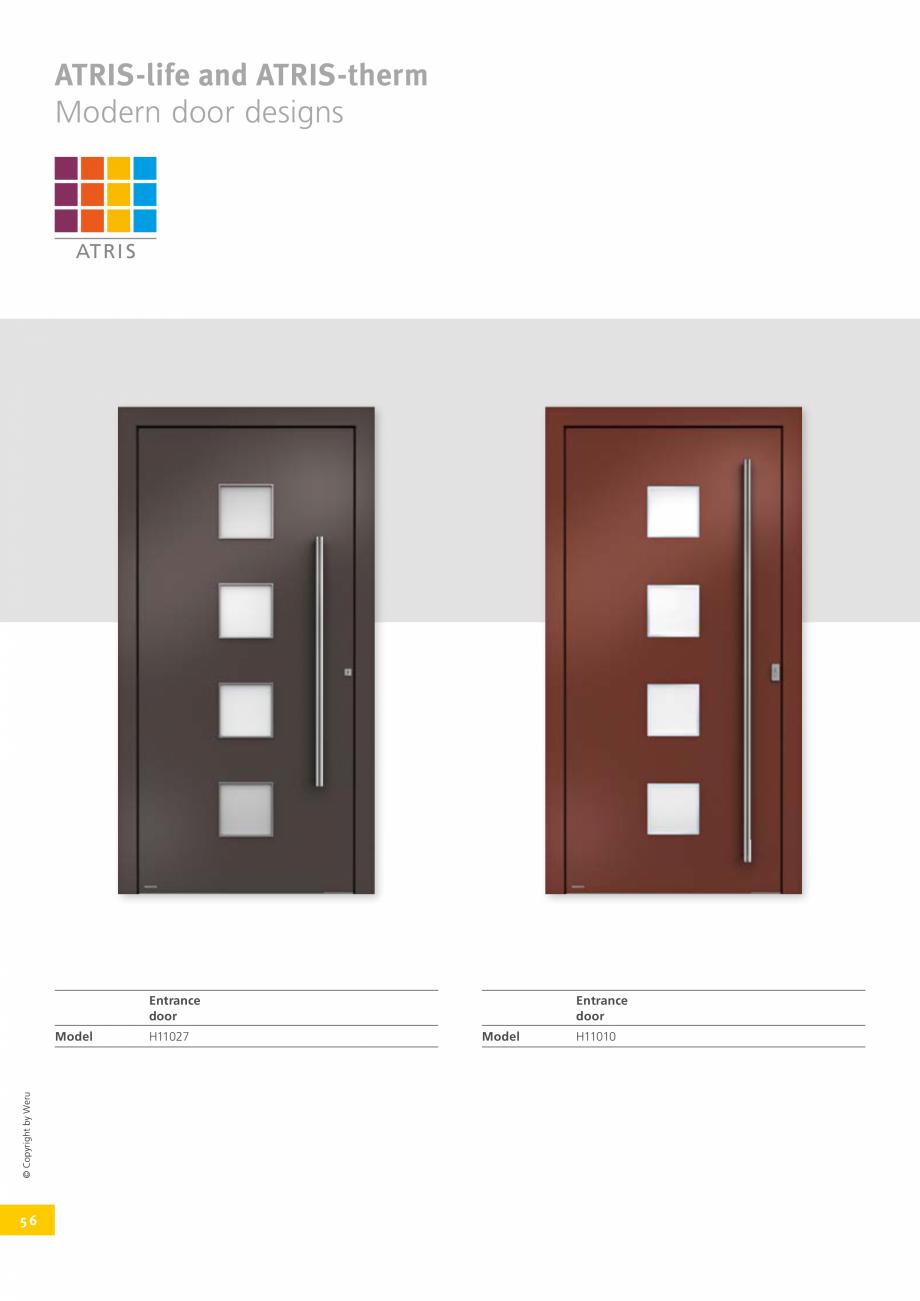 Pagina 56 - Catalog general - Usi de exterior din aluminiu WERU Catalog, brosura Engleza ormation ...