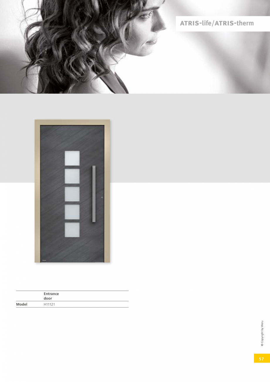 Pagina 57 - Catalog general - Usi de exterior din aluminiu WERU Catalog, brosura Engleza  + + ...