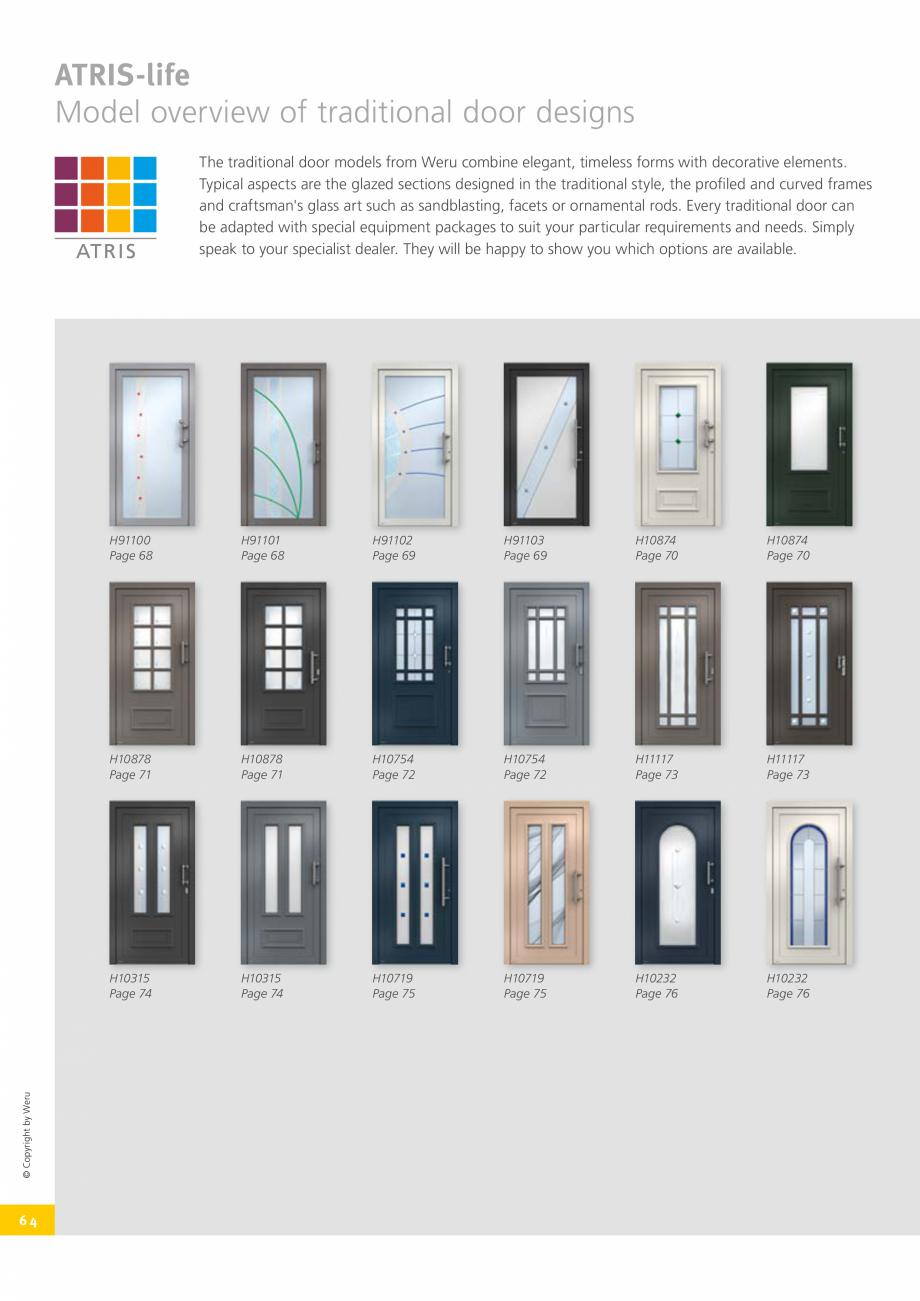 Pagina 64 - Catalog general - Usi de exterior din aluminiu WERU Catalog, brosura Engleza g since...