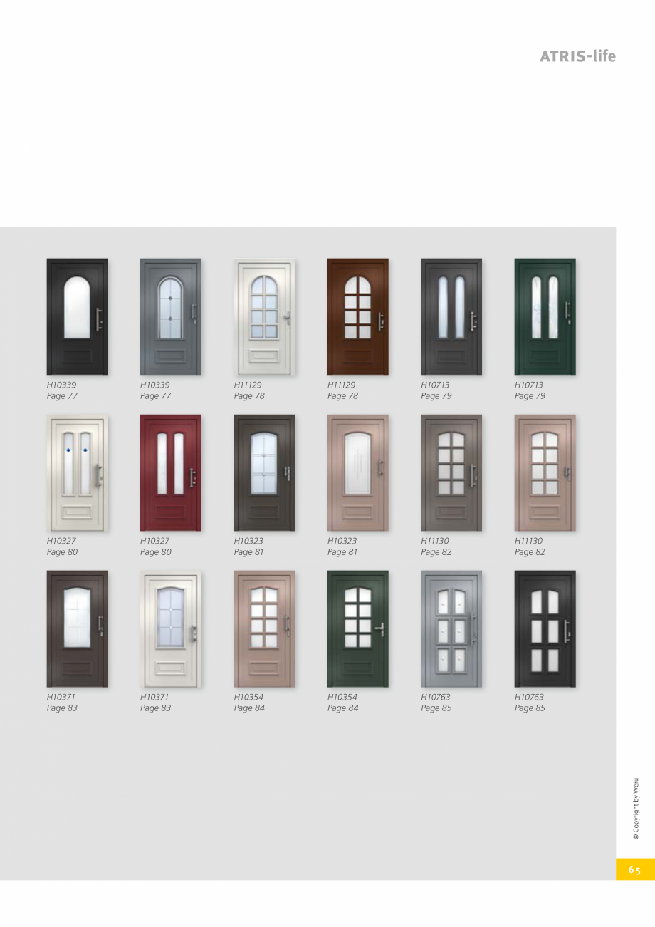 Pagina 65 - Catalog general - Usi de exterior din aluminiu WERU Catalog, brosura Engleza ...