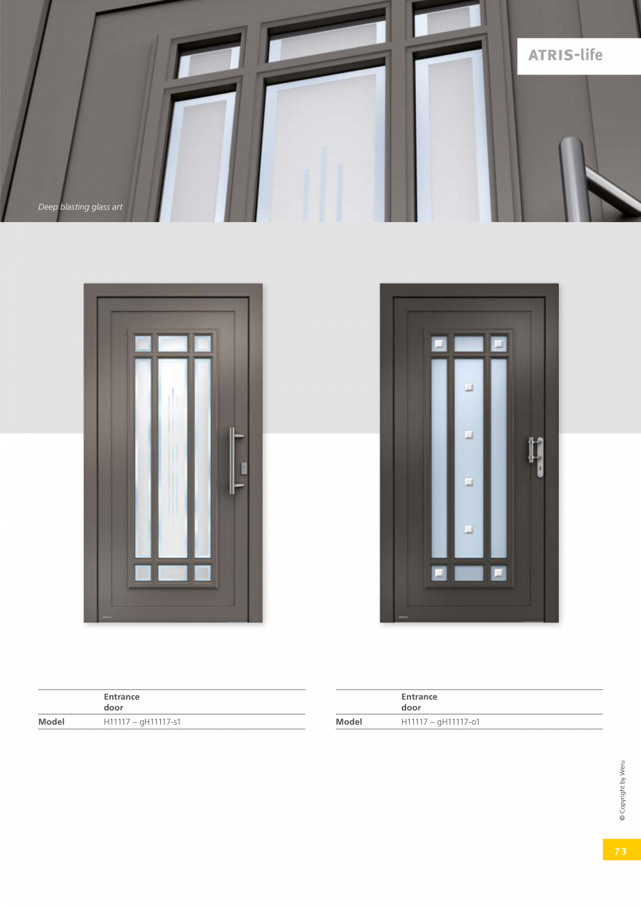 Pagina 73 - Catalog general - Usi de exterior din aluminiu WERU Catalog, brosura Engleza towards you...