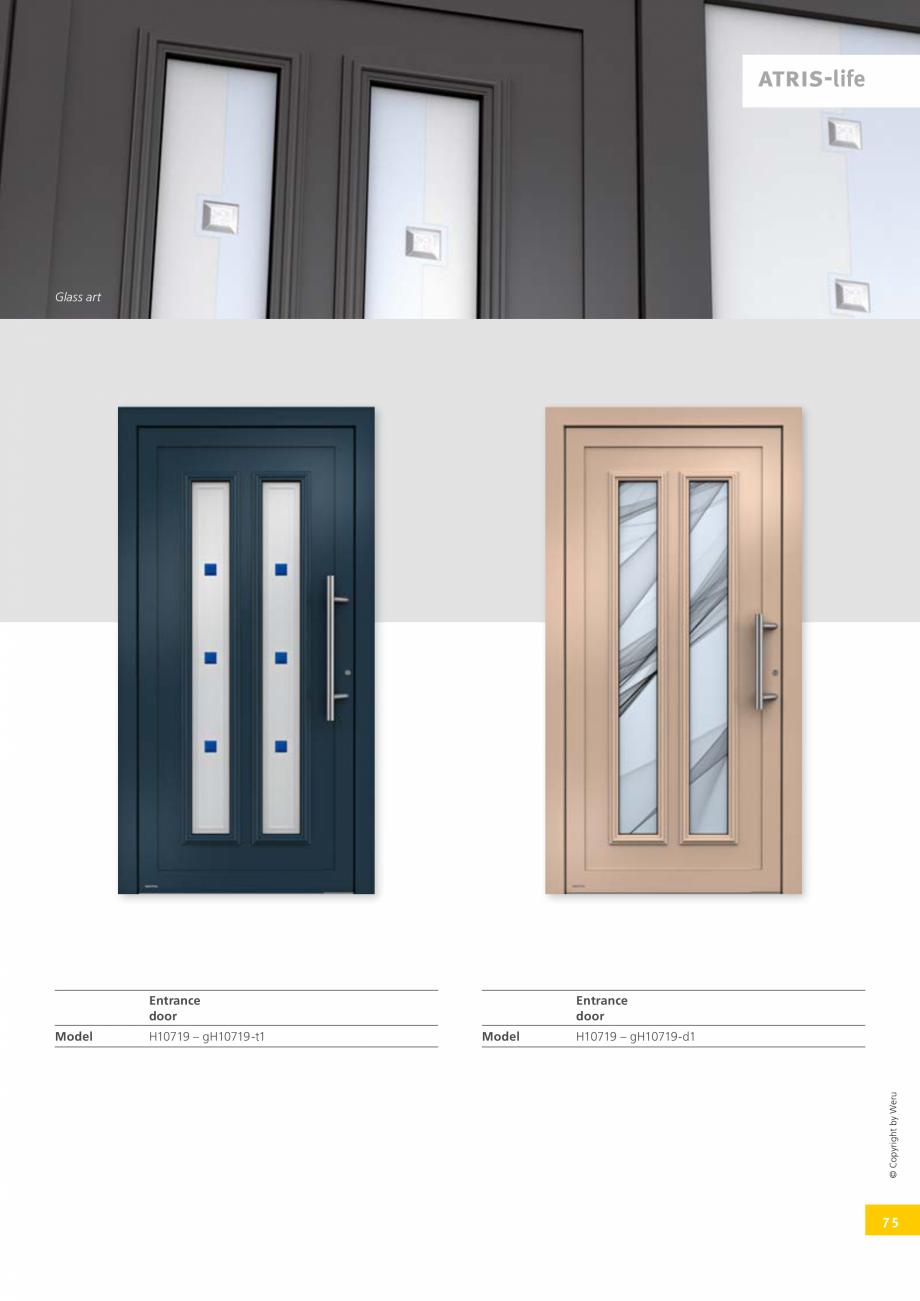 Pagina 75 - Catalog general - Usi de exterior din aluminiu WERU Catalog, brosura Engleza from the...