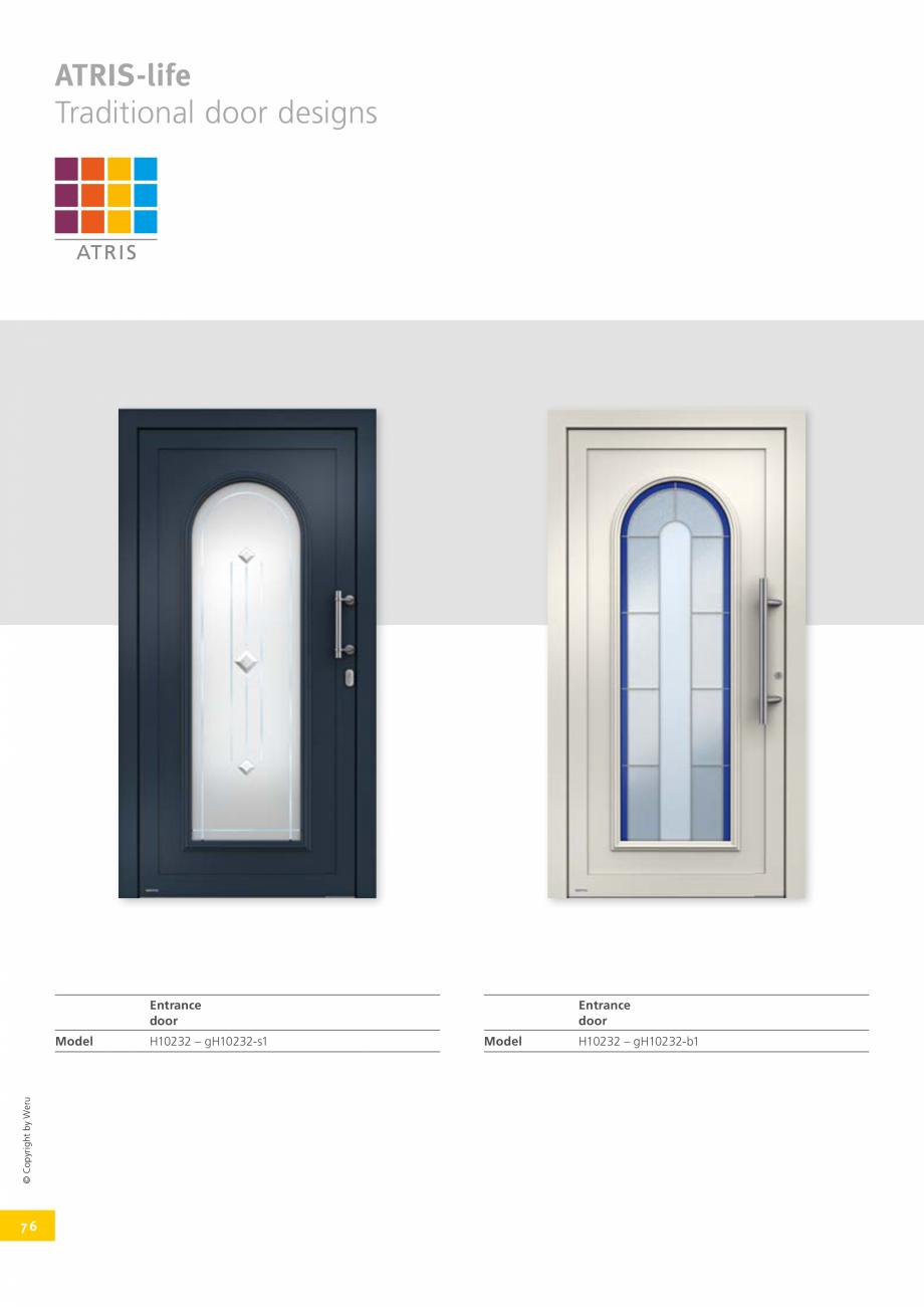 Pagina 76 - Catalog general - Usi de exterior din aluminiu WERU Catalog, brosura Engleza   Glazing  ...