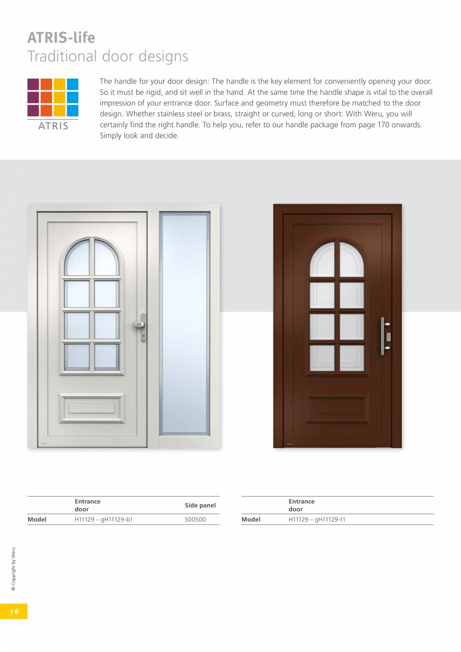 Pagina 78 - Catalog general - Usi de exterior din aluminiu WERU Catalog, brosura Engleza  access to ...
