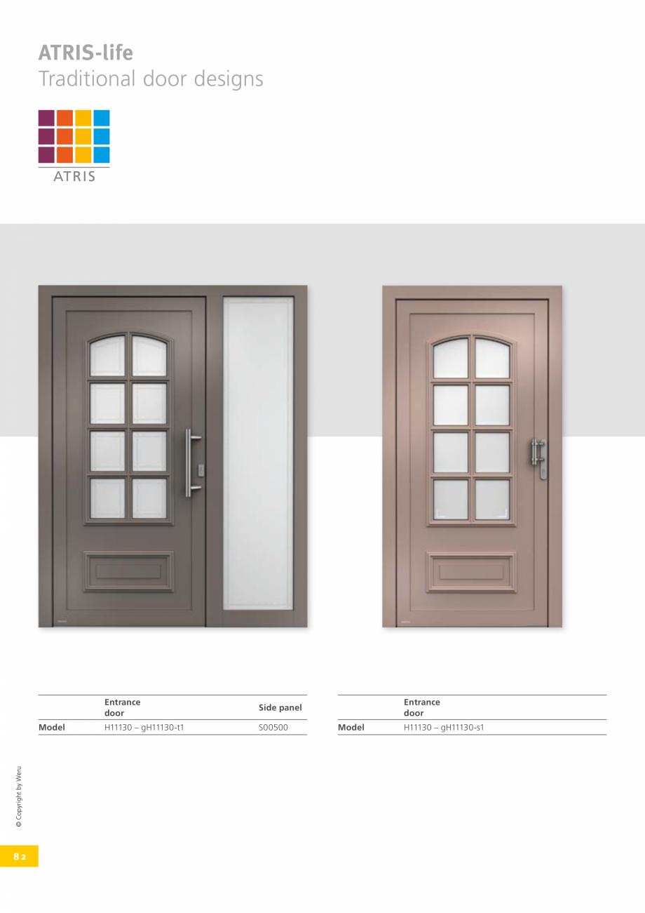 Pagina 82 - Catalog general - Usi de exterior din aluminiu WERU Catalog, brosura Engleza The front...