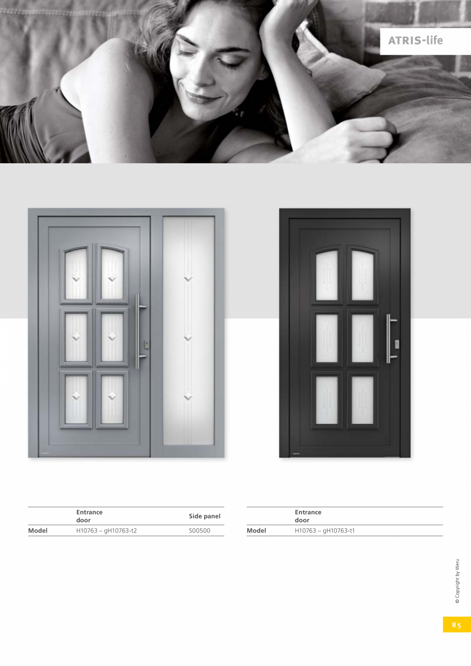 Pagina 85 - Catalog general - Usi de exterior din aluminiu WERU Catalog, brosura Engleza 1170  107  ...