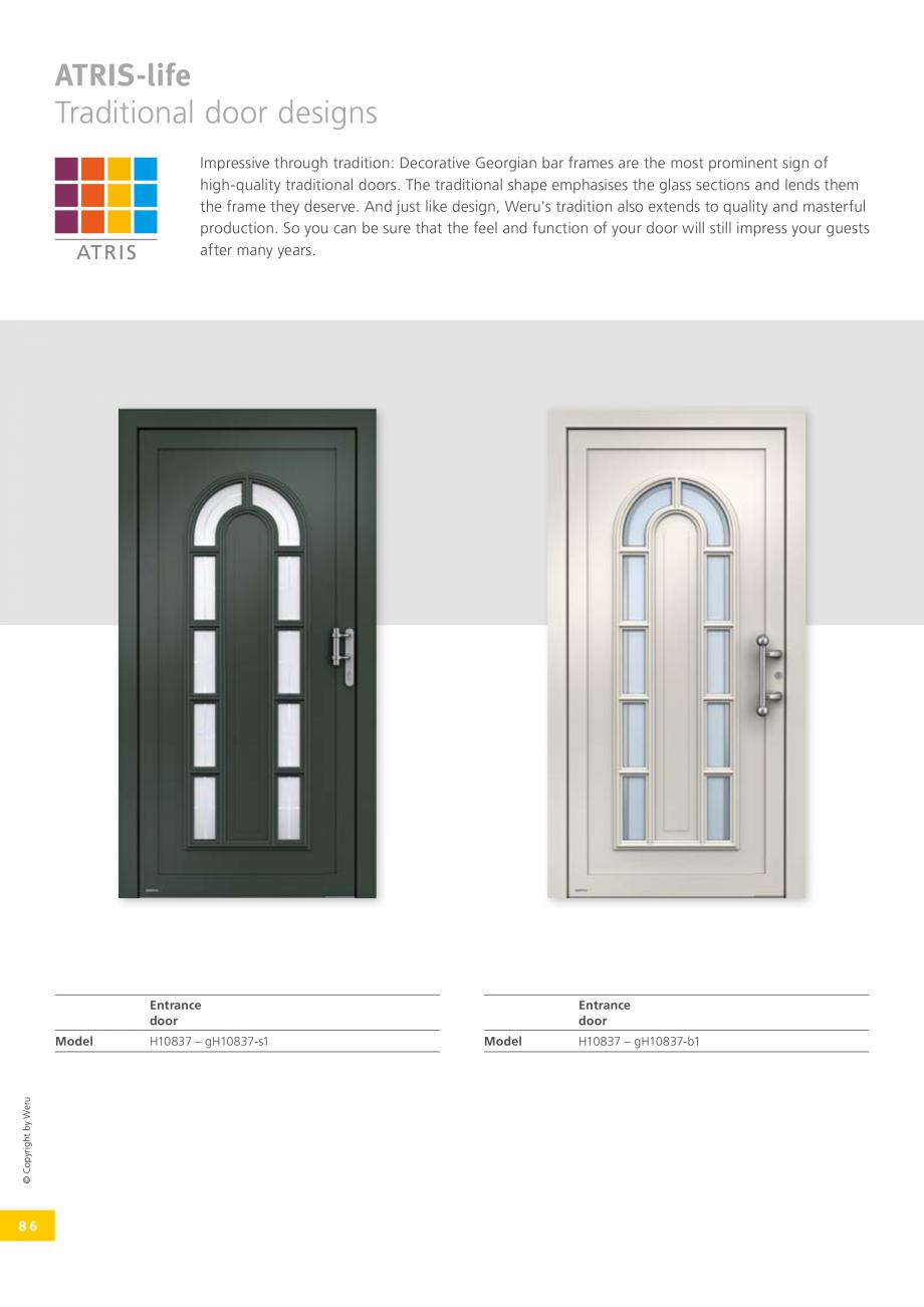 Pagina 86 - Catalog general - Usi de exterior din aluminiu WERU Catalog, brosura Engleza ds we have ...