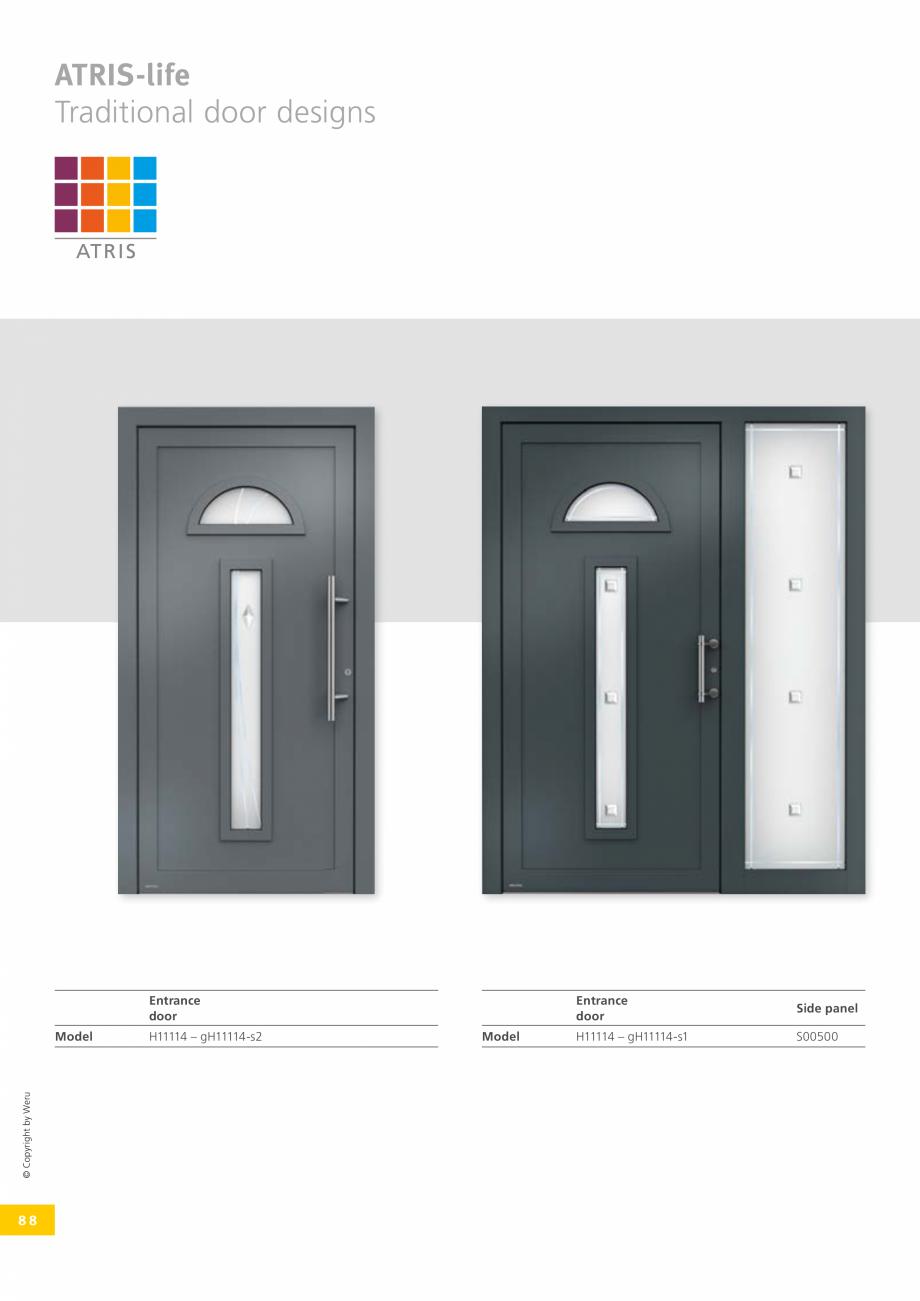 Pagina 88 - Catalog general - Usi de exterior din aluminiu WERU Catalog, brosura Engleza ��ciently, ...