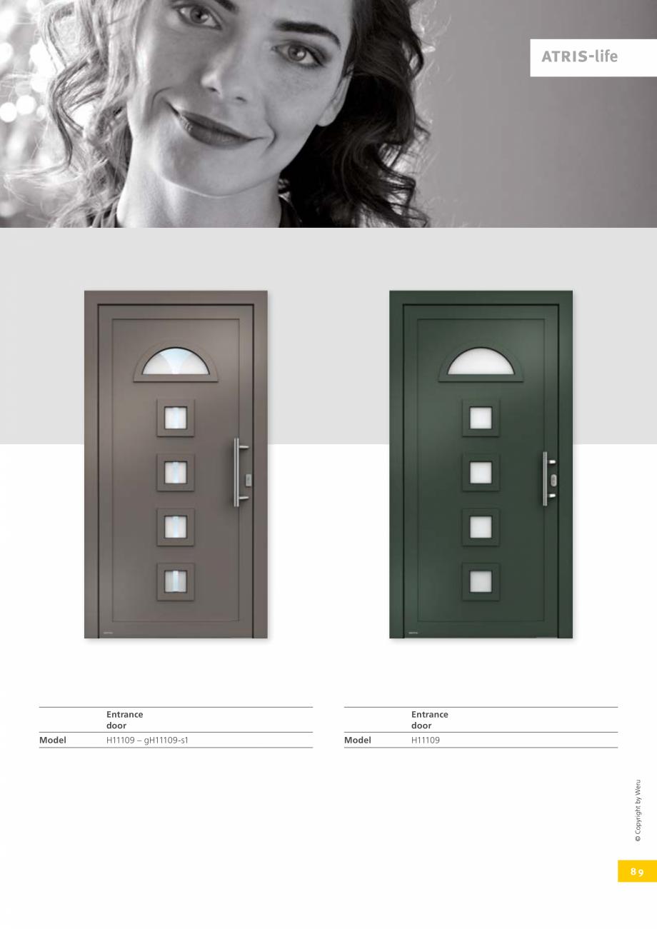 Pagina 89 - Catalog general - Usi de exterior din aluminiu WERU Catalog, brosura Engleza They pay...
