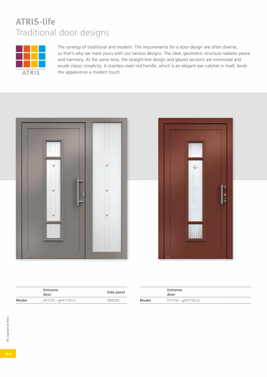 Pagina 92 - Catalog general - Usi de exterior din aluminiu WERU Catalog, brosura Engleza