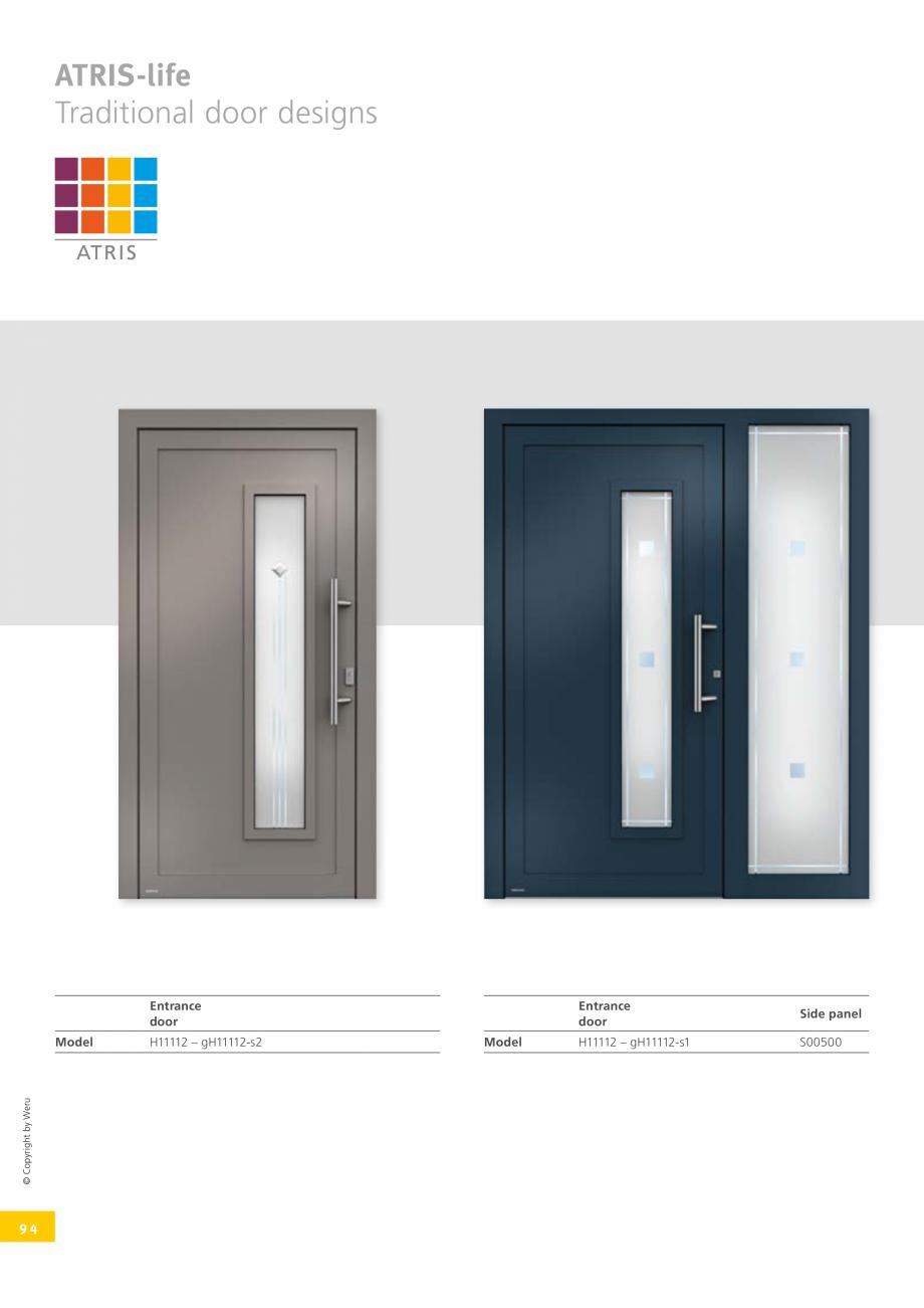 Pagina 94 - Catalog general - Usi de exterior din aluminiu WERU Catalog, brosura Engleza