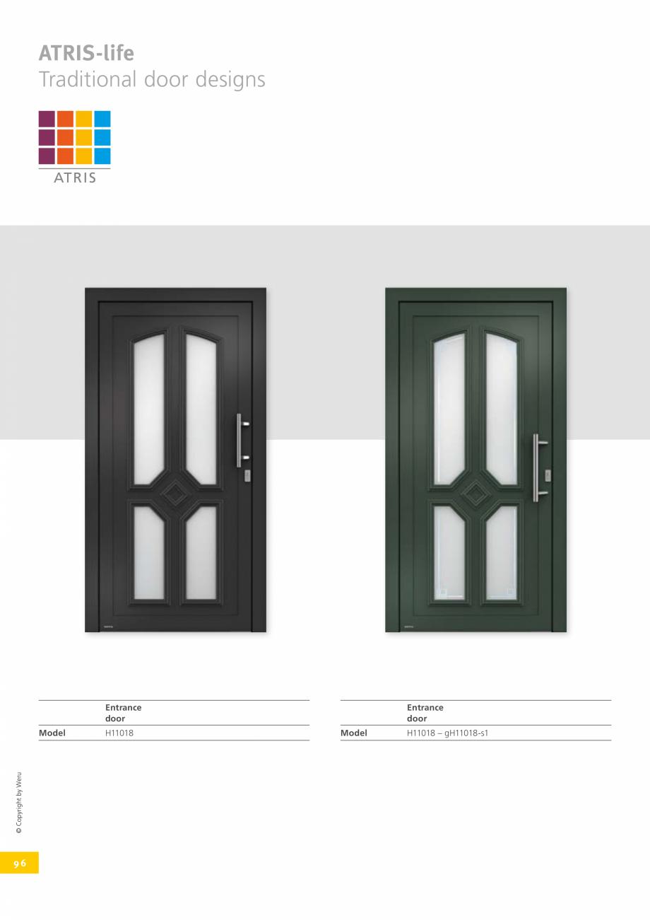 Pagina 96 - Catalog general - Usi de exterior din aluminiu WERU Catalog, brosura Engleza