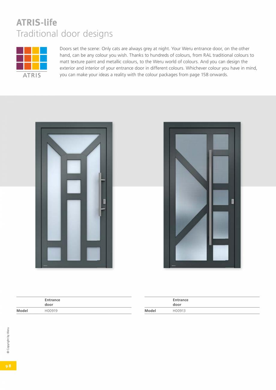 Pagina 98 - Catalog general - Usi de exterior din aluminiu WERU Catalog, brosura Engleza