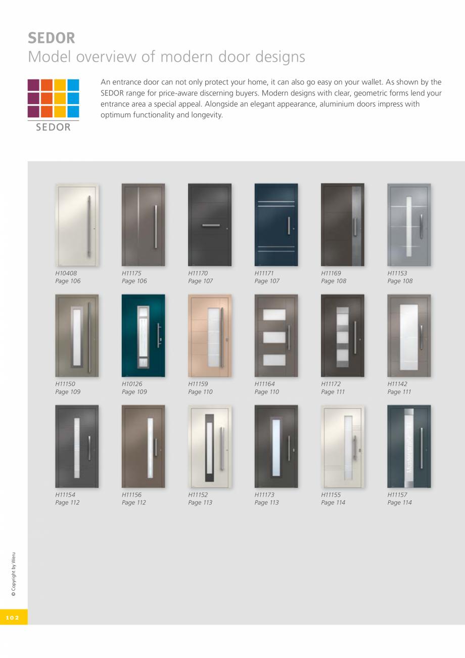 Pagina 102 - Catalog general - Usi de exterior din aluminiu WERU Catalog, brosura Engleza