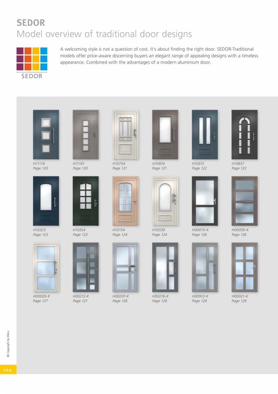 Pagina 104 - Catalog general - Usi de exterior din aluminiu WERU Catalog, brosura Engleza