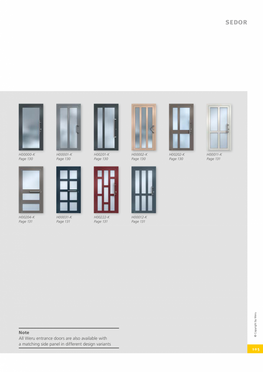 Pagina 105 - Catalog general - Usi de exterior din aluminiu WERU Catalog, brosura Engleza