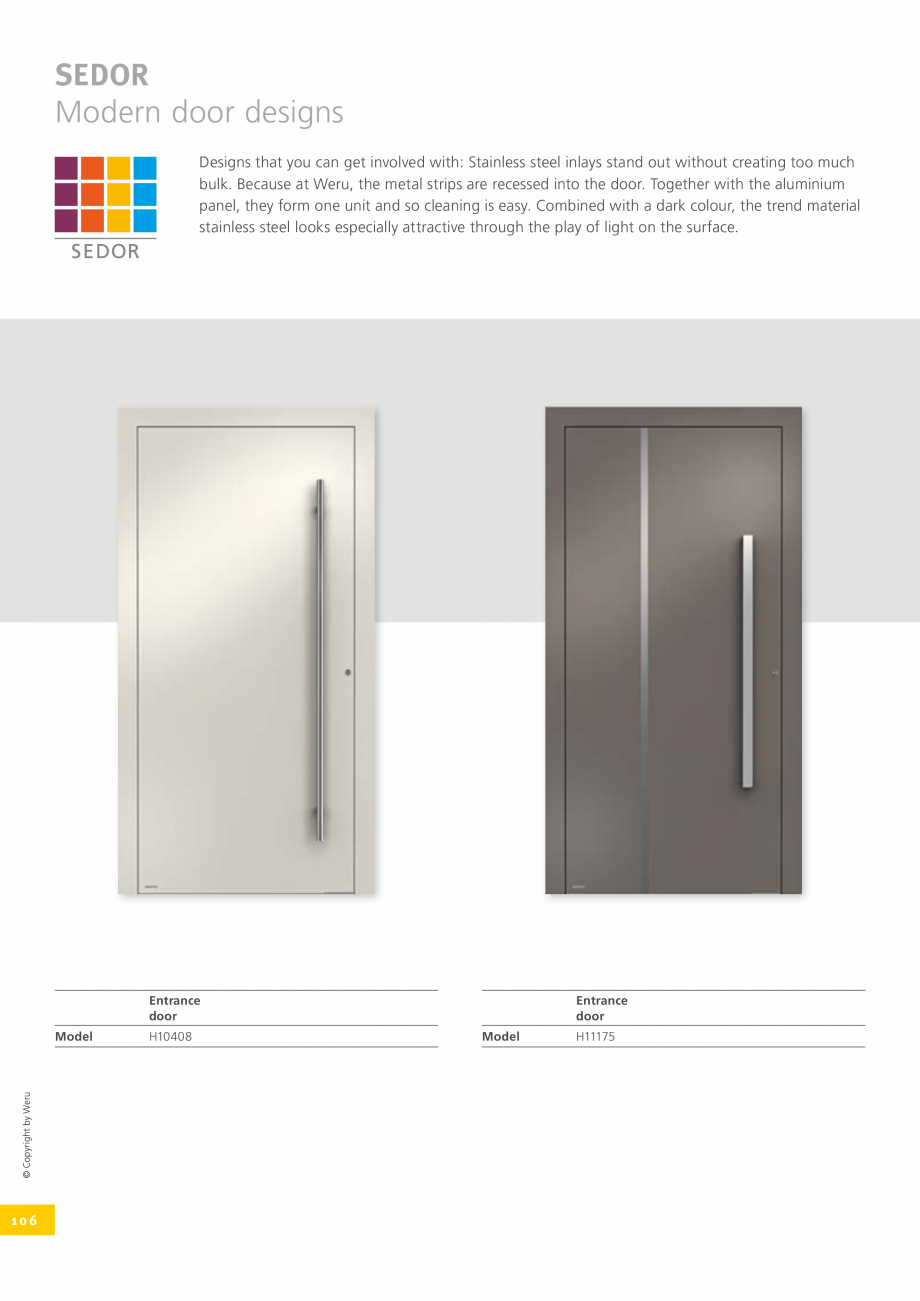 Pagina 106 - Catalog general - Usi de exterior din aluminiu WERU Catalog, brosura Engleza