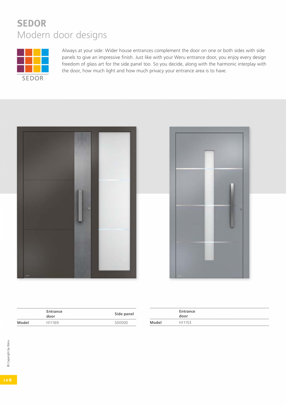 Pagina 108 - Catalog general - Usi de exterior din aluminiu WERU Catalog, brosura Engleza