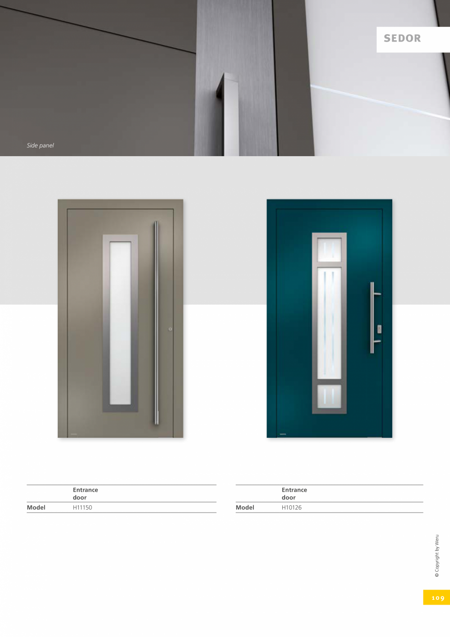 Pagina 109 - Catalog general - Usi de exterior din aluminiu WERU Catalog, brosura Engleza
