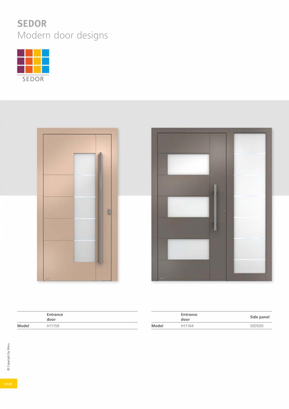 Pagina 110 - Catalog general - Usi de exterior din aluminiu WERU Catalog, brosura Engleza