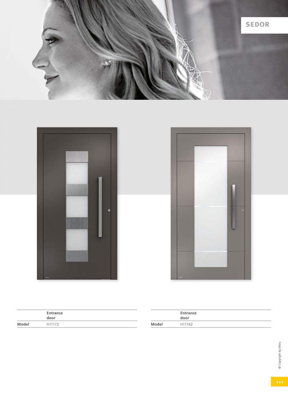 Pagina 111 - Catalog general - Usi de exterior din aluminiu WERU Catalog, brosura Engleza