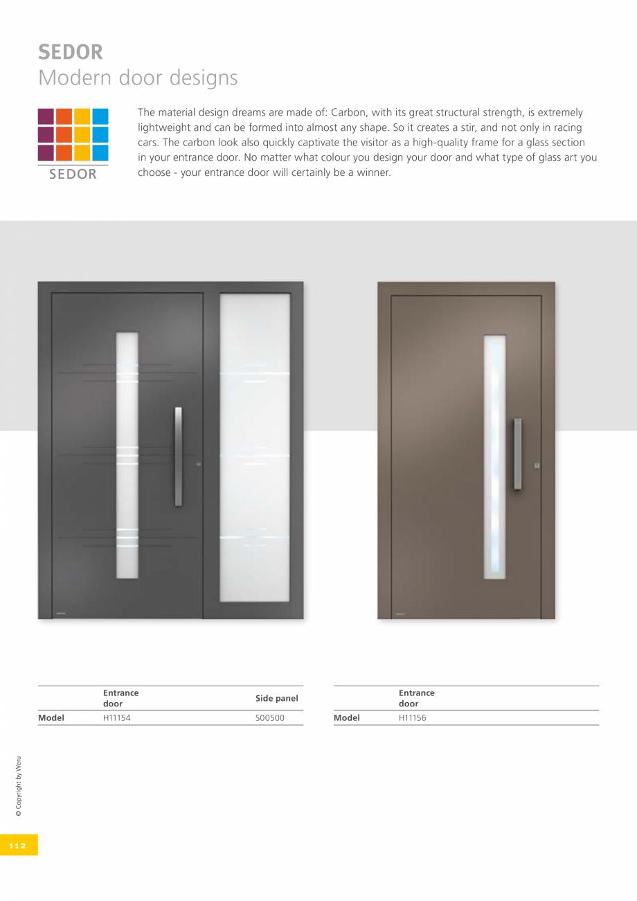 Pagina 112 - Catalog general - Usi de exterior din aluminiu WERU Catalog, brosura Engleza