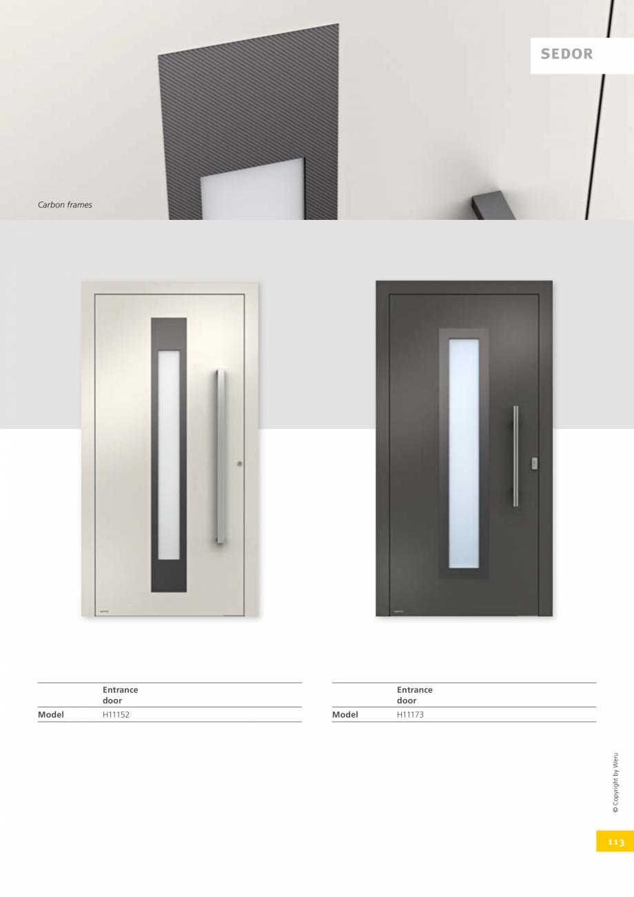 Pagina 113 - Catalog general - Usi de exterior din aluminiu WERU Catalog, brosura Engleza