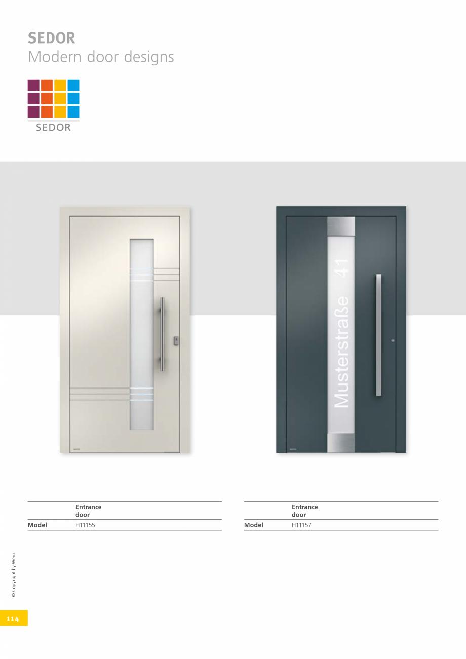 Pagina 114 - Catalog general - Usi de exterior din aluminiu WERU Catalog, brosura Engleza
