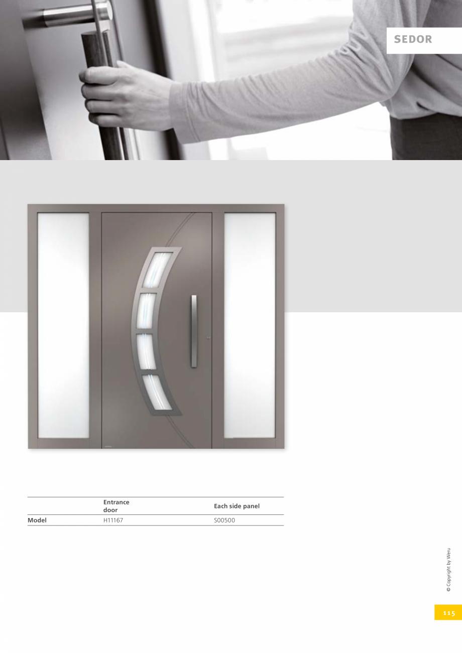 Pagina 115 - Catalog general - Usi de exterior din aluminiu WERU Catalog, brosura Engleza