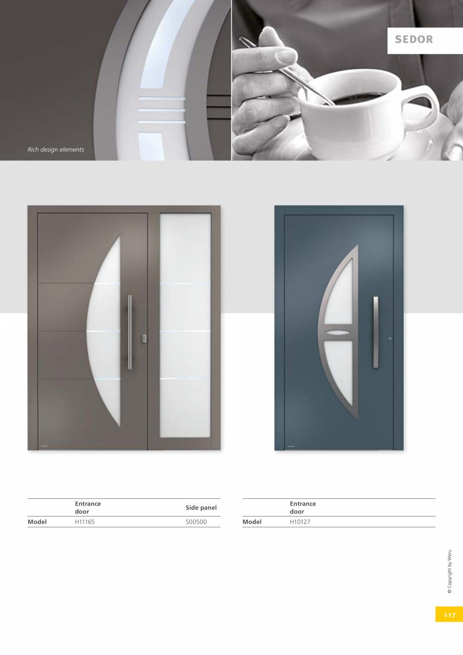 Pagina 117 - Catalog general - Usi de exterior din aluminiu WERU Catalog, brosura Engleza