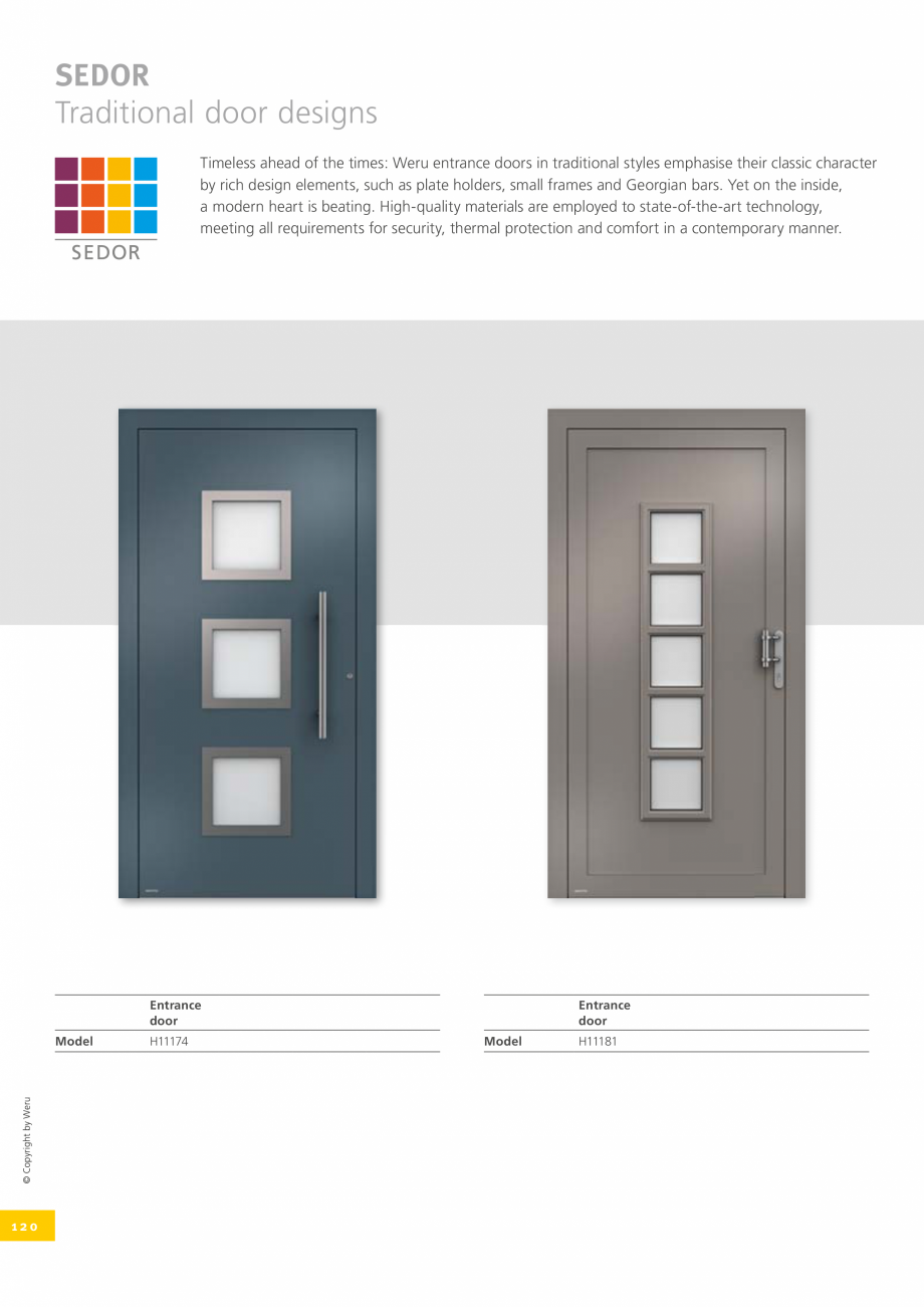 Pagina 120 - Catalog general - Usi de exterior din aluminiu WERU Catalog, brosura Engleza