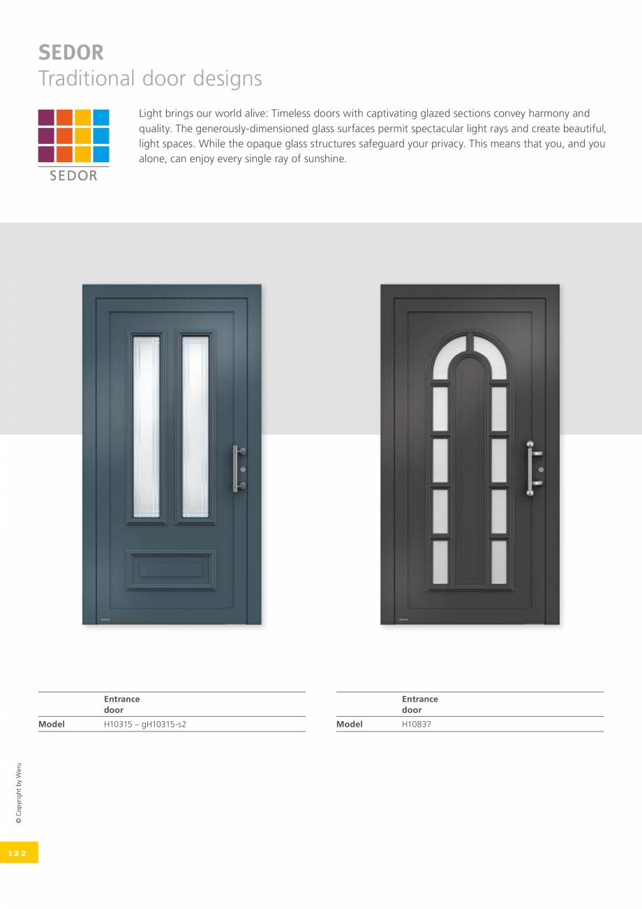 Pagina 122 - Catalog general - Usi de exterior din aluminiu WERU Catalog, brosura Engleza