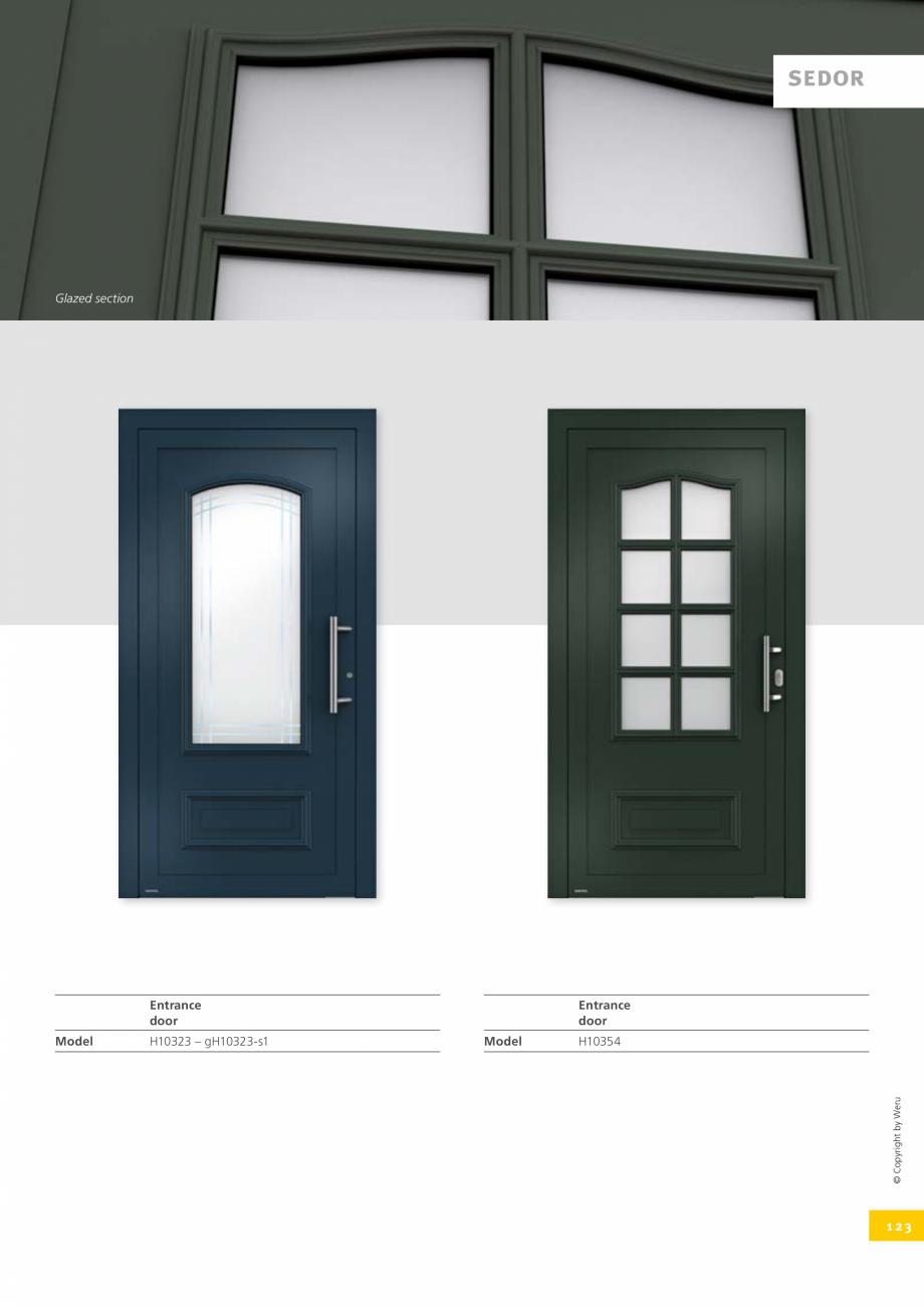 Pagina 123 - Catalog general - Usi de exterior din aluminiu WERU Catalog, brosura Engleza
