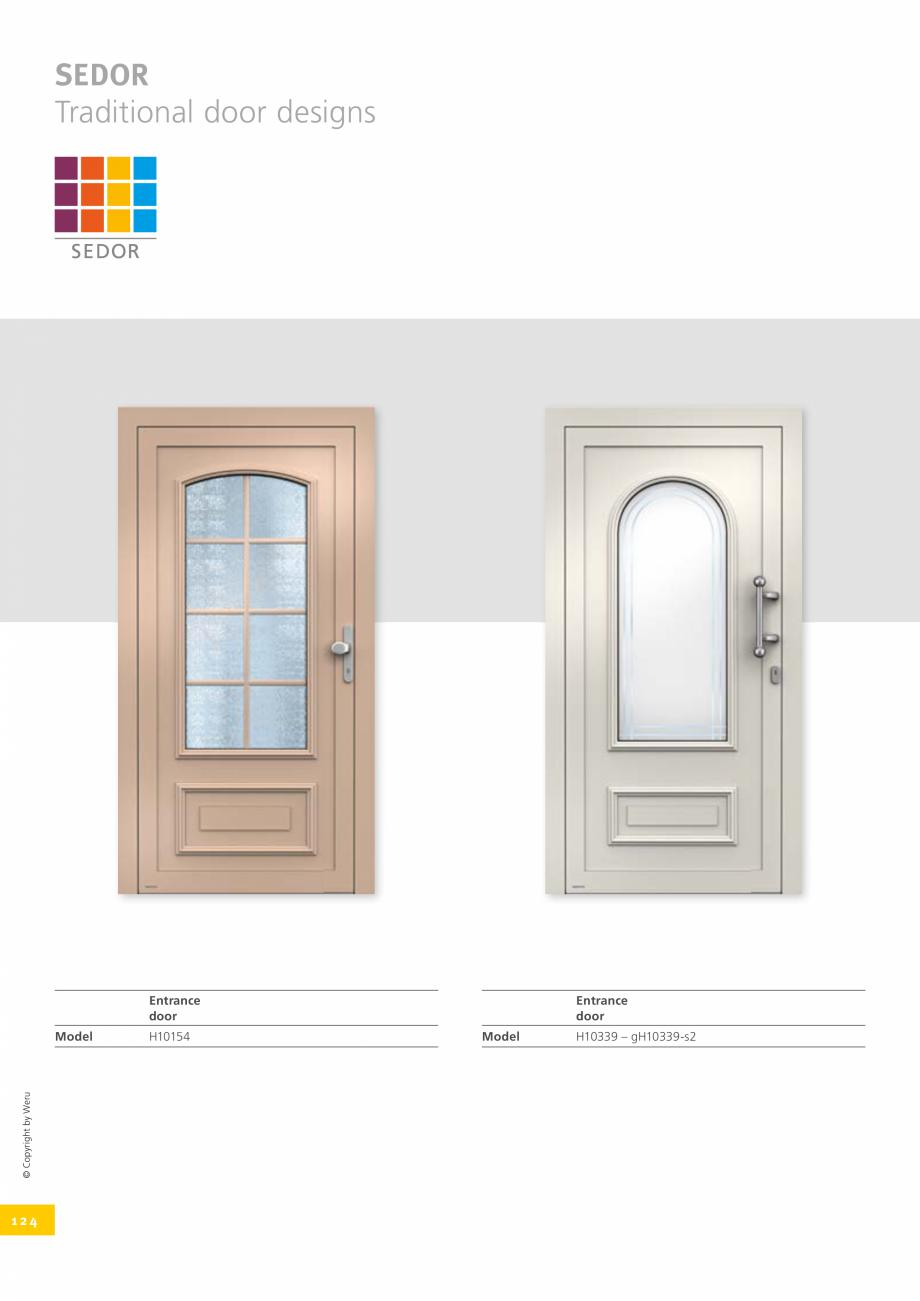 Pagina 124 - Catalog general - Usi de exterior din aluminiu WERU Catalog, brosura Engleza