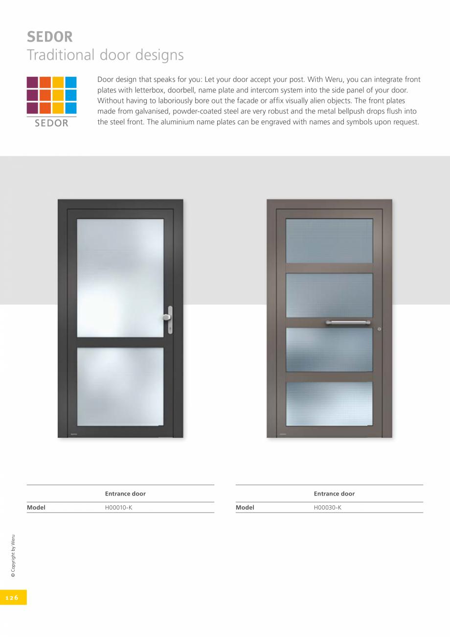 Pagina 126 - Catalog general - Usi de exterior din aluminiu WERU Catalog, brosura Engleza