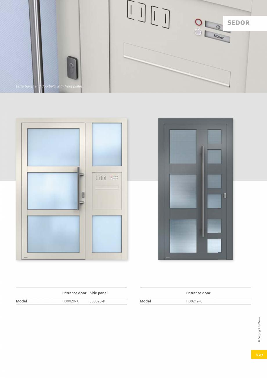 Pagina 127 - Catalog general - Usi de exterior din aluminiu WERU Catalog, brosura Engleza