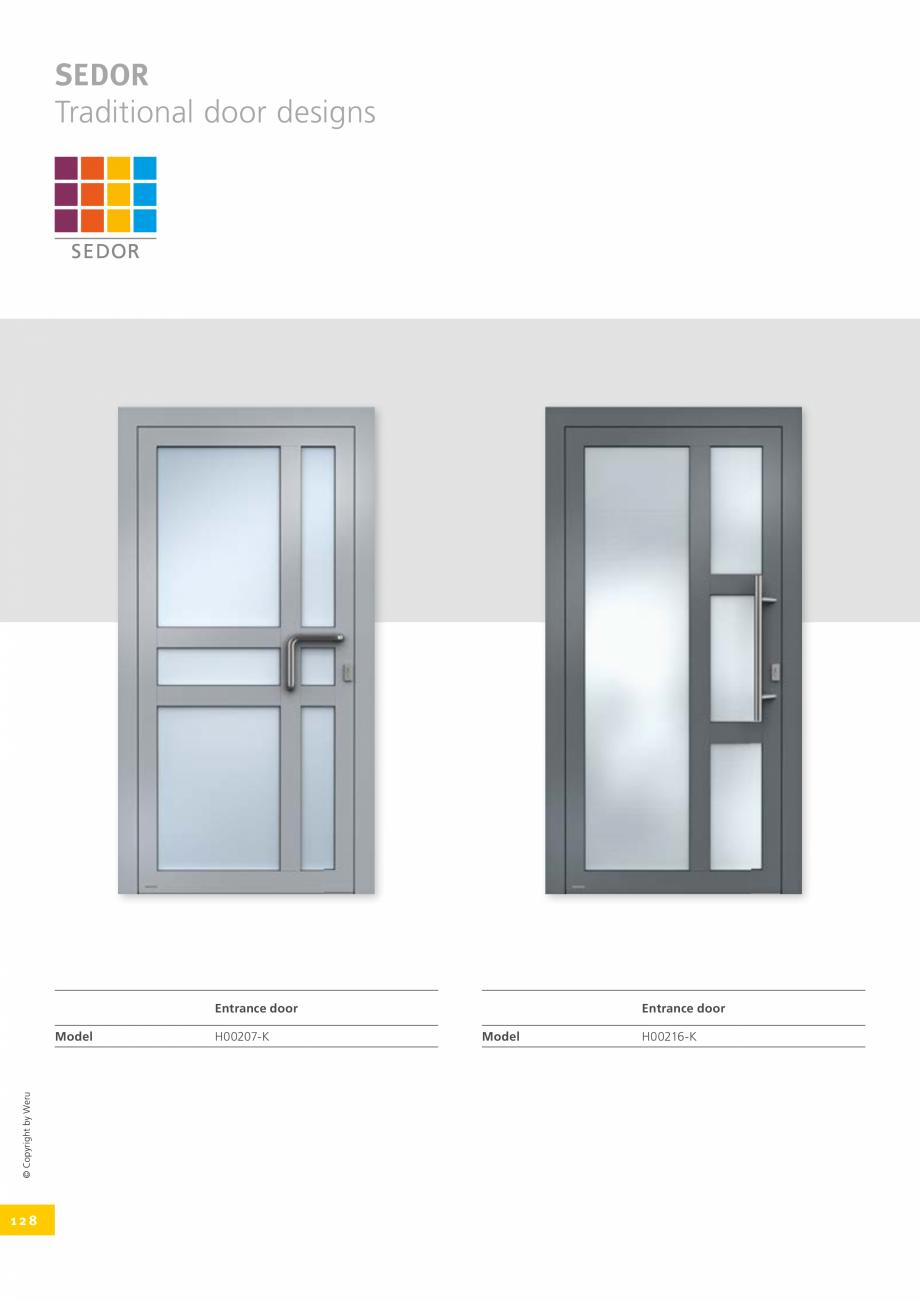 Pagina 128 - Catalog general - Usi de exterior din aluminiu WERU Catalog, brosura Engleza